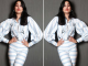 Janhvi Kapoor looked stunning in pinstripe shirt and pants