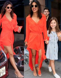 Priyanka Chopra looks hot in this tangerine coloured dress