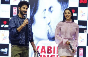 Shahid Kapoor and Kiara Advani at the launch of their new song of movie Kabir Singh