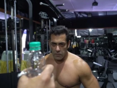 Salman khan makes a spin bottle cap funny challenge video for his fans