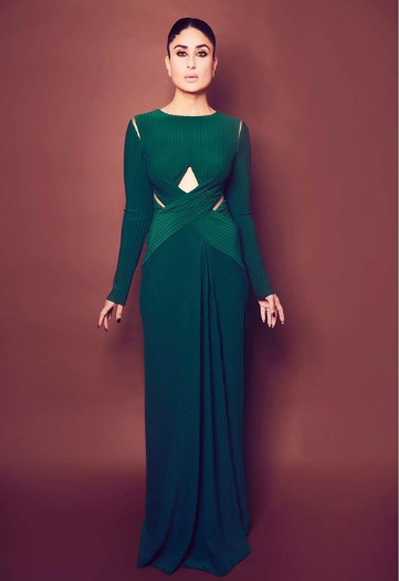 Kareena Kapoor looks elegance in this emerald green gown