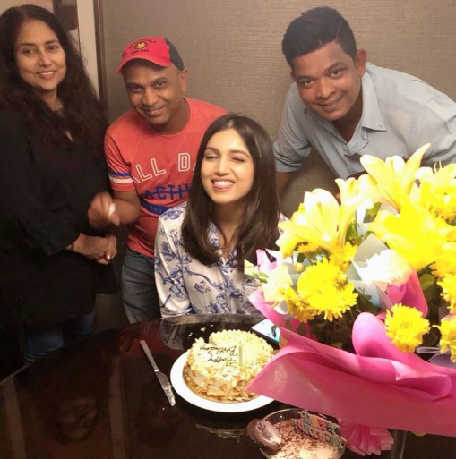 Actress Bhumi Pednekar is celebrating her birthday in lucknow
