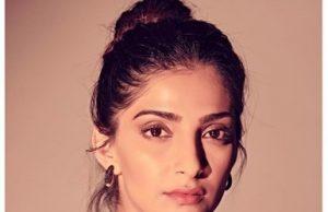 Sonam Kapoor stuns in this off-shoulder plunging neckline dress