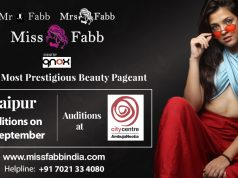 Auditions of Miss, Mrs & Mr Fabb Raipur 2019 on 8th September 2019