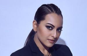 Sonakshi Sinha fails to impress in black blazer with a flowy golden skirt
