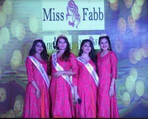 1st Runner up – Joshita Gautam and Srishti Kale (tie) 2nd Runner up – L. Elizabeth Bhavya Chauhan was sashed winner of Miss Fabb Chhattisgarh 2019