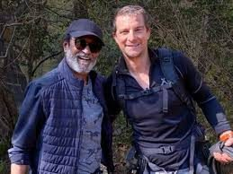 Into the Wild with Bear Grylls and Rajinikanth special episode.