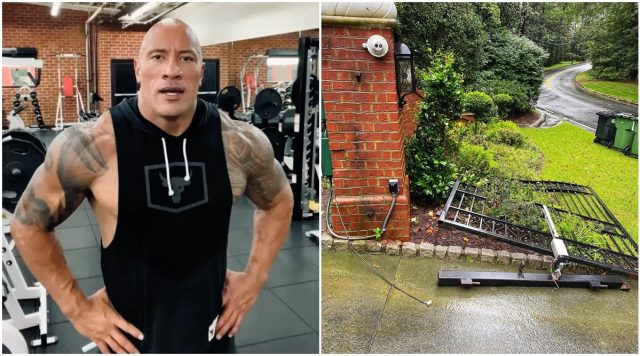 Dwayne Johnson rips off a metal gate with bare hands, channels his inner Black Adam